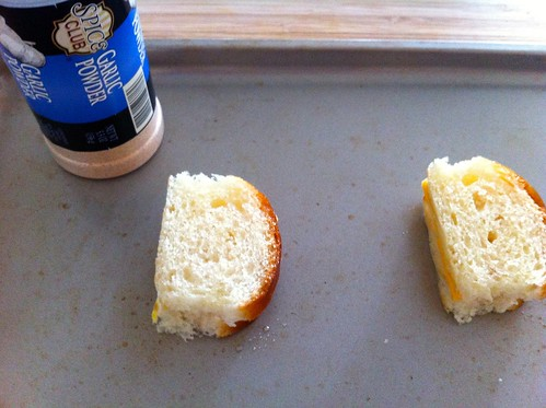 Sandwiches Topped with Garlic Powder