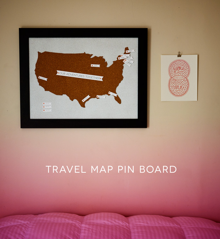 DIY Travel Pin Board