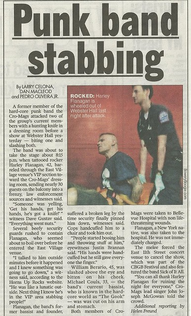 07/07/12 New York Post (Harley Flanagan -vs- Cro-Mags Incident)