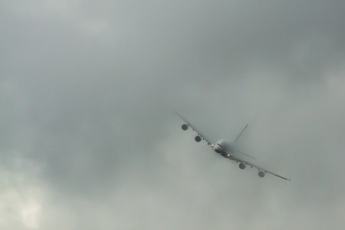 FIA2012: A380 Tearing Through Cloud