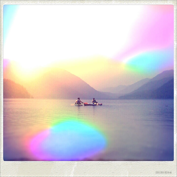 {kayaking} at lake crescent