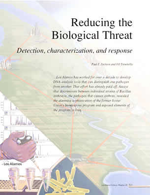 Reducing the Biological Threat