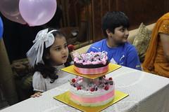 Marziya Shakir and her fathers birthday cake - her sisters too by firoze shakir photographerno1