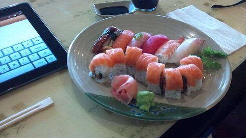 Mixed Sushi and Orange Roll