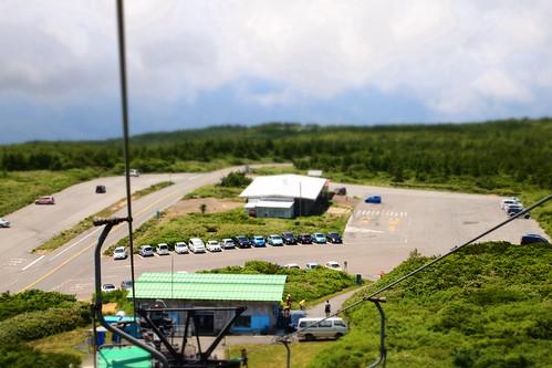 蔵王苅田リフト駐車場遠景