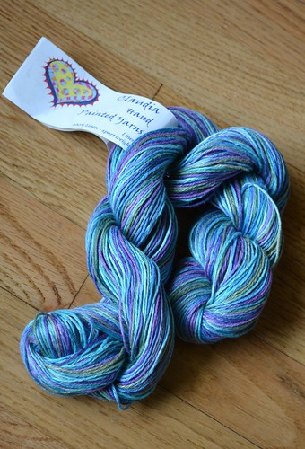 Claudia hand painted yarns -ocean depth