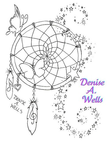 Dreamcatcher Tattoo Design by Denise A. Wells