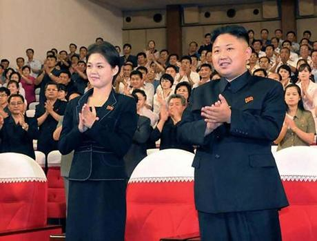 Ri Sol Ju, left, with her new husband, Kim Jong Un. The two were married recently in the Democratic People's Republic of Korea (DPRK). by Pan-African News Wire File Photos