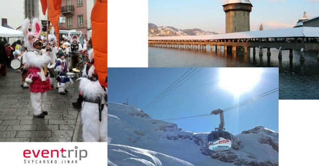 Masopustní slavnosti v Lucernu a lyžování v Engelbergu