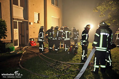 Dachstuhlbrand Teplitzstraße Biebrich 26.07.12