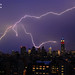 Lightning Filling the NYC Skyline, Empire State Building Red White Blue for TeamUSA, London Olympics