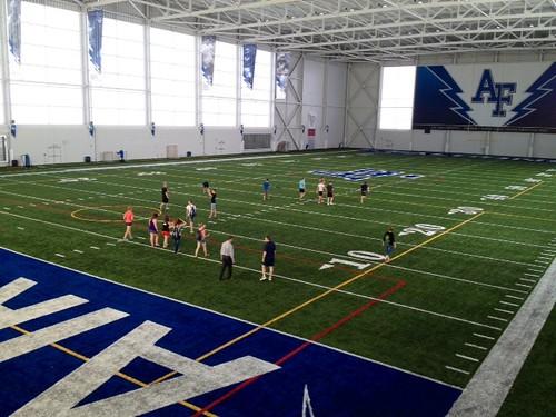 Air Force football indoor training field