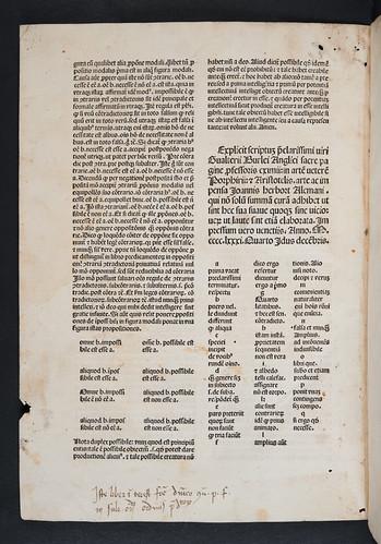 Monastic ownership inscription in Burlaeus, Gualtherus: Expositio in artem veterem Porphyrii et Aristotelis (with text)