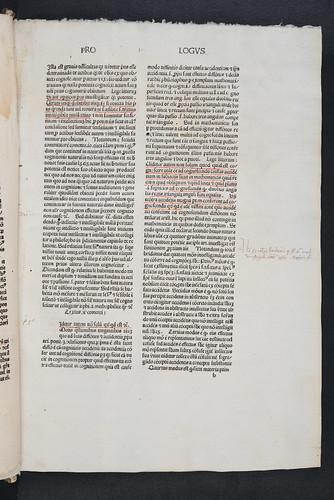 Manuscript annotations in Paulus Venetus: Scriptum super librum Aristotelis De anima