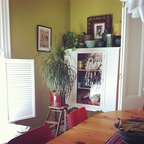 dining room corner #interiors #home #vintage #summer
