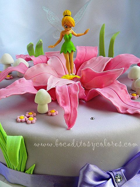 Tinkerbell Cake by Southern Blue Celebrations