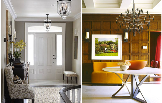 how to select the right light for your foyer