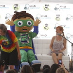 KLRU 50th Birthday Party 2012 322 Bernadette Nason reads with Super Why