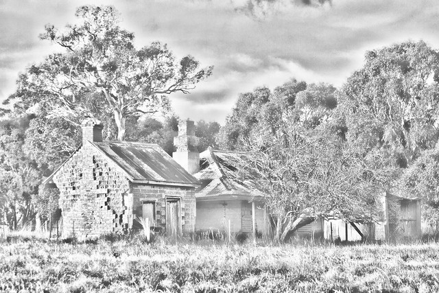 Derelict farmhouse (Pencil Sketch) 2012-06-05 (_MG_8730)