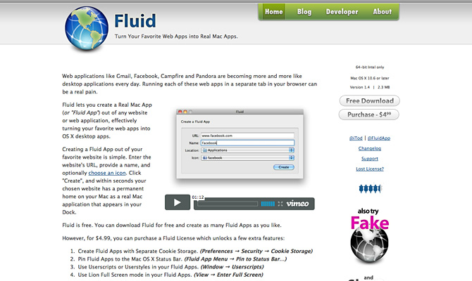 Download 'Fluid' for Mac.