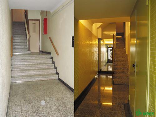 Final obra de instalacin de ascensor por vives espacios for Oficina zurich zaragoza