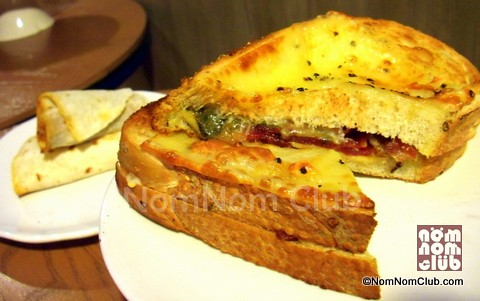 Bacon And Cheese On Italian Country Bread