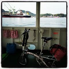 でもって向島行きの船に乗りこんで、いよいよです~。いってきまーす。