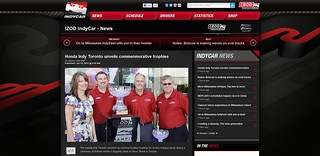 IZOD IndyCar Series ScreenCap / Tearsheet - William Ashley trophy unveil