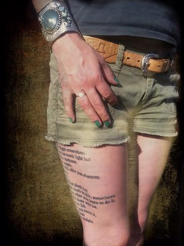 Bukowski Leg by DraMan/ Roger Guetta