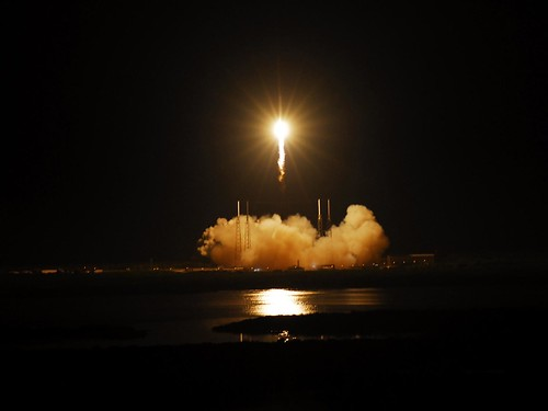 Falcon 9 soars into space. Click through fo image source.