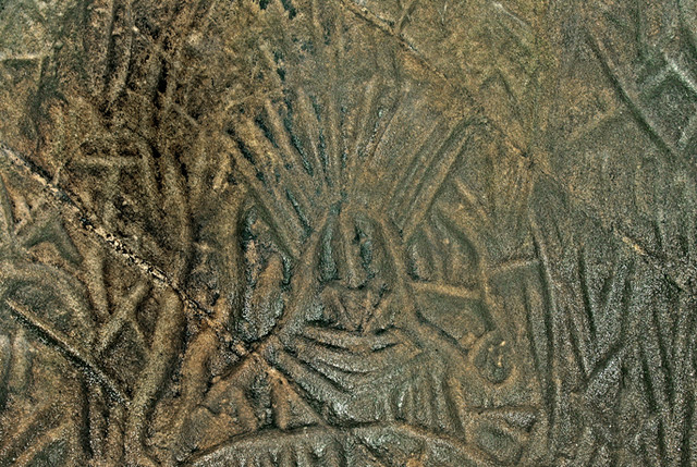 Carving on edakkal cave s walls by stone age men flickr