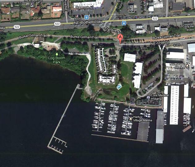 Log Boom Park Google Maps aerial