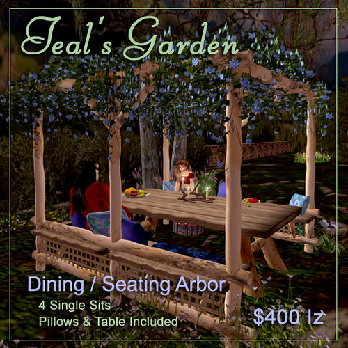 Dining / Seating Arbor by Teal Freenote
