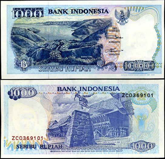 1000 Rupií Indonézia 1992/1995, Pick 129d