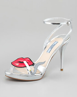 Prada Smoking Lips Sandal NM Retail $890 on sale for $596