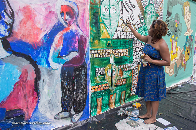 Street artist at NYC Howl Festival 04