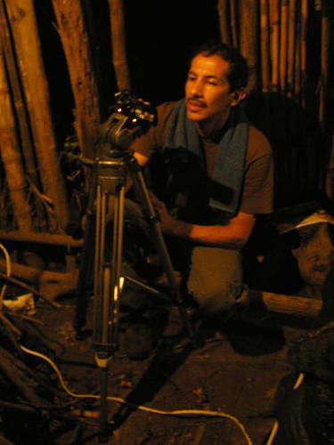 Omar Forero, rodando El ordenador