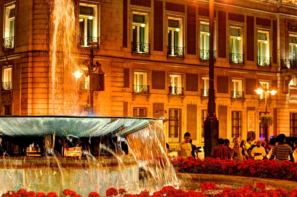 Puerta del Sol at Night
