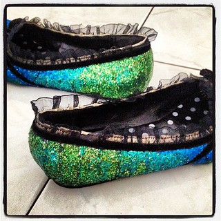 Remember those ombré glitter shoes I designed?