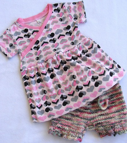 Pink & Grey Hearts Collab- Alligator Knits and Dillon & Claire