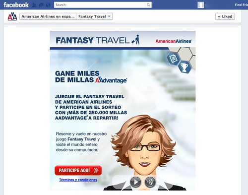 American Airlines Fantasy Travel Game