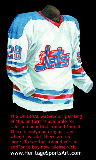 new products 9d254 85ccd Winnipeg Jets 1972-73 jersey artwork | This is a highly deta ...