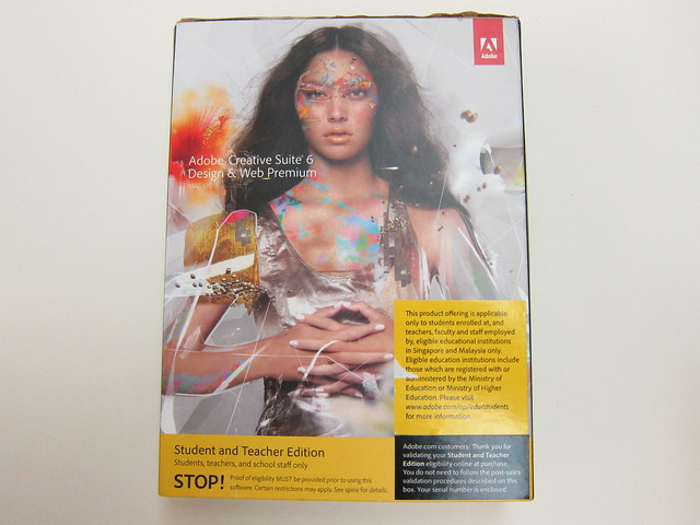 Adobe Creative Suite 6 Design and Web Premium (Student Edition) - Box Front