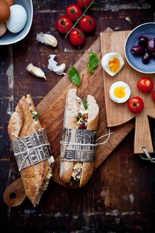 Tuna Nicoise Sandwiches