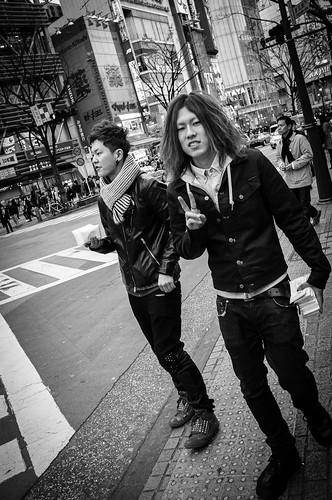 Look at me - Youths along Shibuya Crossing. Tokyo 2012