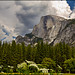 Half Dome under an impending storm