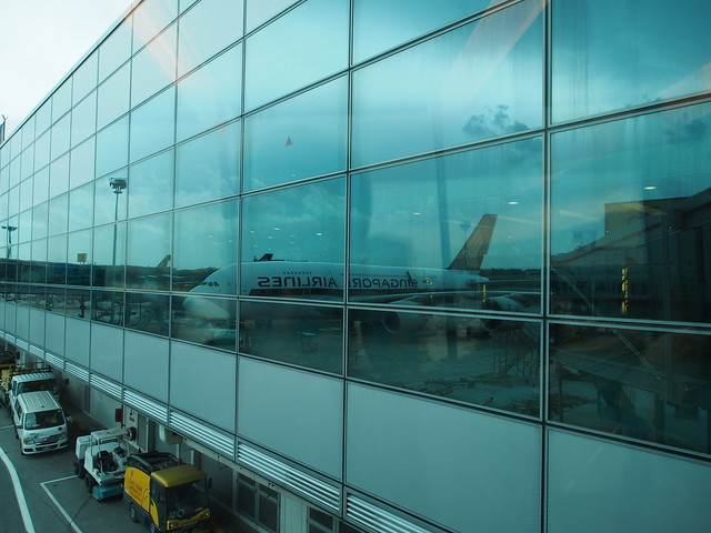 A380 on the window