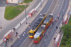 trams unloading