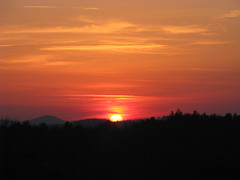 Sunset over Blue Ridge Mtns