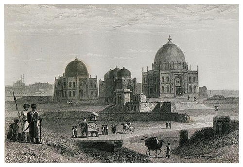 010-Tumbas de los jefes Patan cerca de Delhi-The oriental annual, or scenes in India 1835-1840- William Daniell-© Universitätsbibliothek Heidelberg